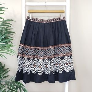 Tasha Polizzi | Embroidered A-line Skirt
